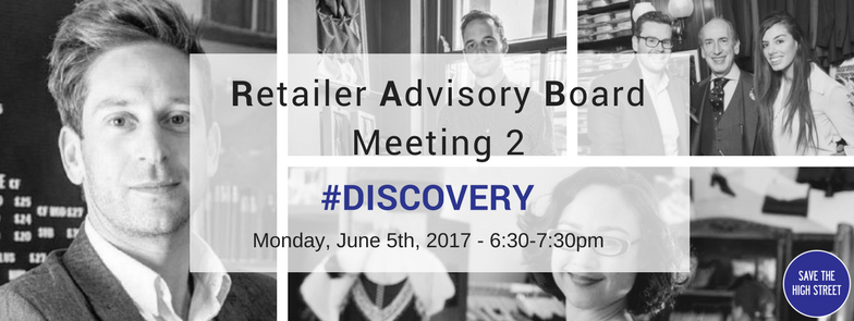Join the Retailer Advisory Board Meeting 2 #DISCOVERY – Get your business discovered